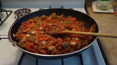 Platillo vegetariano: Picadillo de soya.