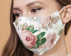Cotton Face Mask Handmade Unisex/Washable Anti Dust Mask Reusable Face Cover and Eco Friendly Gift for Grandparents Cat Face Mask, Face Masks, Quality Lingerie, Uk Brands, Mask Shop, Mouth Mask, Cool Fabric, Diy Mask, Fashion Face Mask
