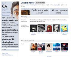 Claudio Nader Facebook profile resume