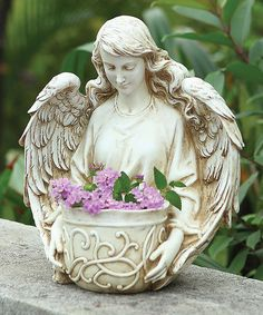 Angel Bust Planter by Roman #zulilyfinds...The sturdy construction will withstand even the harshest weather for a stylish look all year round.    •10.75'' W x 12.5'' H x 7.5'' D •Resin / stone * $35/$81