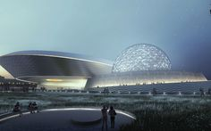 Chapter The Galactic Museum. Ennead's Shanghai Planetarium's Breaking Ground is announced in ArchDaily. Concept Architecture, Futuristic Architecture, Architecture Design, Planetarium Architecture, Education Office, Santiago Calatrava, Space Theme, Zaha Hadid, Deconstruction