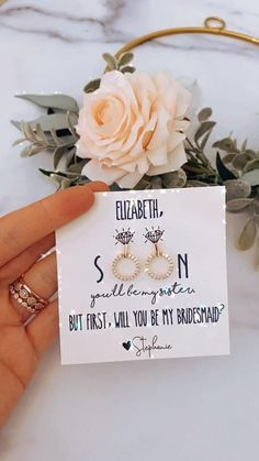 Ask Bridesmaids To Be In Wedding, Will You Be My Bridesmaid Gifts, Bridesmaid Gift Boxes, Asking Bridesmaids, Bridesmaid Proposal Gifts, Cute Bridesmaids Gifts, Gifts For Wedding Party, Wedding Gift For Sister, Happy Wedding Day