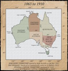 """A Nation sub-divided 1787 to 1825 The extent of British territory in New South Wales until Image copyright """"Atlas of NSW Western Australia, Australia Travel, South Australia, First Fleet, Australian Capital Territory, Aboriginal Culture, Latin Words, History Timeline, Australian Curriculum"""