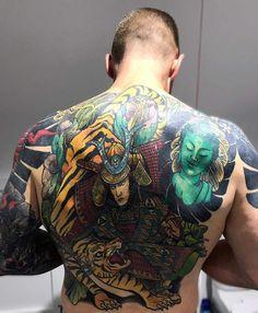Almost done Tiger Tattoo, Sari, Japanese, Saree, Japanese Language, Saris