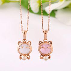 #necklace http://www.bemodia.com/accessories-14k-russy-cat-girls-short-design-necklace.html
