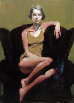 Michael Carson - Girl on a Red Chair