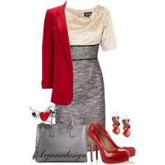 """Fee G Dress"" by arjanadesign on Polyvore"