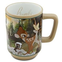 Disney Bambi Mug | Disney StoreBambi Mug - Awaken each morning to greet the new day with an eye-opening sip from our lovely Bambi Movie Moments mug, illustrated with scenes directly from Walt Disney's animated classic. The cycle of life flows on.