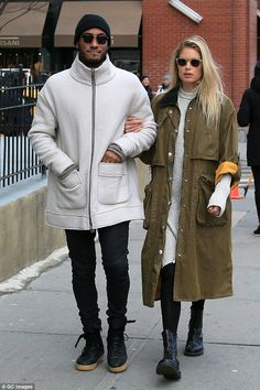 PDA in NYC: Doutzen Kroes and husband Sunnery James Gorré were spotted taking a walk around their New York neighborhood on Tuesdaybody, victoria secret, style, loreal, makeup, young, photoshoot, face, bikini, husband, hot, haircut, family, casual, red carpet