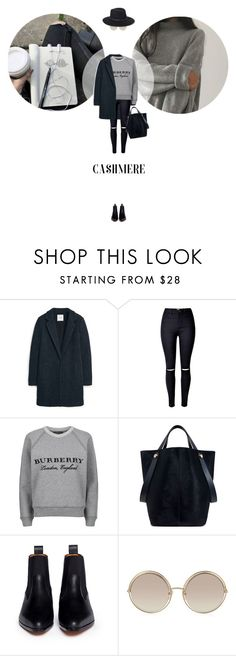 """// 1191. Cozy Cashmere Sweaters."" by lilymcenvy ❤ liked on Polyvore featuring MANGO, Burberry, Mulberry, Chloé, Marc Jacobs, Eric Javits and cashmere"