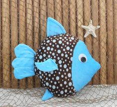 Fish pillow nautical nursery minky fish pillow under the Nautical Baby Nursery, Nautical Pillows, Diy Pillows, Fabric Crafts, Sewing Crafts, Sewing Projects, Balloon Fish, Crochet Leaf Patterns, Cushion Embroidery