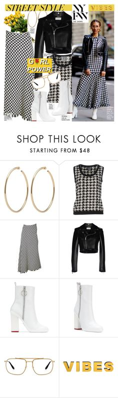 """""""NYFW: Street Style"""" by voguefashion101 ❤ liked on Polyvore featuring Boutique Moschino, Yves Saint Laurent, Off-White and Prada"""