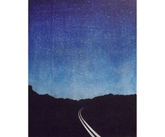 "woodblock print  Wall Art ""There was nowhere to go but everywhere, so just keep on rolling under the stars.""  ― Jack Kerouac, On the Road by VIZArt on Etsy https://www.etsy.com/listing/198029209/woodblock-print-wall-art-there-was"