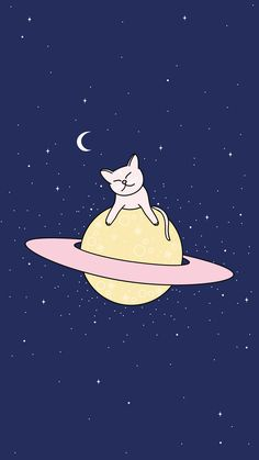 Cat from space - Animal Art - Cat Wallpaper Wallpaper Space, Kawaii Wallpaper, Cat Wallpaper, Tumblr Wallpaper, Screen Wallpaper, Pattern Wallpaper, Wallpaper Backgrounds, Iphone Wallpaper, Alien Party