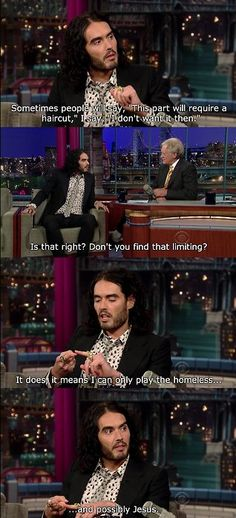 Russell Brand... Lives with migraine disease. He is so funny!