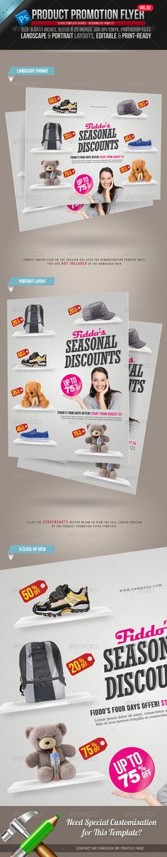 Supermarket \/ Product Flyer Flyer template, Authors and Template - discount flyer template