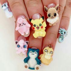 Cute Gel Nails, Cute Nail Art, 3d Nails, Pretty Nails, New Nail Art, Cute Acrylic Nails, Pretty Nail Designs, Nail Art Designs, Nailart