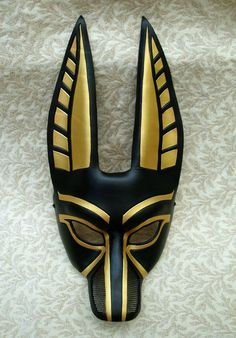 """The """"Rigoletto"""" Anubis I designed for the Metropolitan Opera. All leather, all by hand, all made to match eac. Anubis mask for opera Egyptian Mask, Egyptian Party, Egyptian Costume, Anubis Costume, Egyptian Era, Bastet, Ceramic Mask, Leather Mask, Animal Masks"""