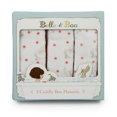 Belle and Boo Three Flannel Set in Gift Box