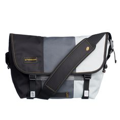 Perfect for packing things on the go, this messenger bag features several useful compartments and a sleek, trendy grey exterior. The bag has a shoulder strap with a padded center and snap front closur