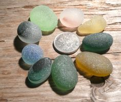 English sea glass pendant pieces by jazomir on Etsy, $18.00