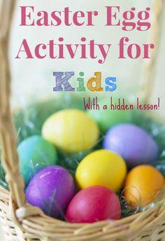 Easter egg activity for kids