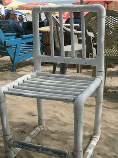 pvc pipe chair - Google Search & PVC Furniture. No tutorial... just this picture. Possibly combining ...