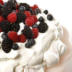 This recipe for pavlova, a light meringue dessert, comes courtesy of actor Geoffrey Rush.