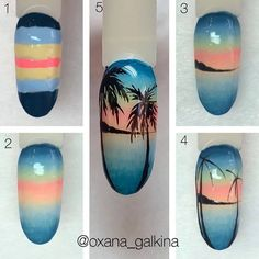 Nail Polish Art, Nail Art, Nail Salon Design, Mermaid Nails, Summer Nails, Cute Nails, Nail Designs, Art Tutorials, Diana