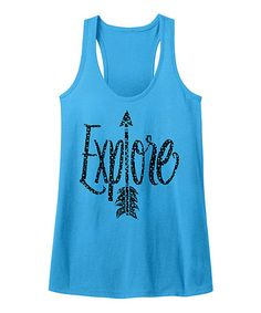 Love this Turquoise Heather 'Explore' Racerback Tank on #zulily! #zulilyfinds