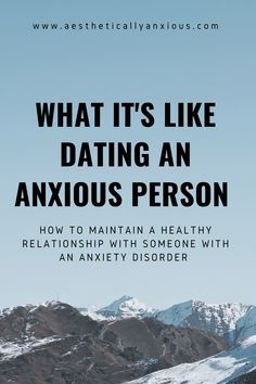 Dating someone who struggles with severe anxiety can be a difficult task, but if you truly do love that person, the relationship can work out! Mental Health Quotes, Mental Health Matters, Mental Health Awareness, Successful Relationships, Healthy Relationships, Relationship Advice, Psychological Help, Severe Anxiety, Anxiety Tips