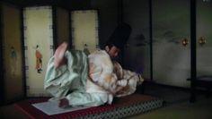 大河ドラマ『軍師官兵衛』第4回より。足利義昭の後ろの屏風が気になる。