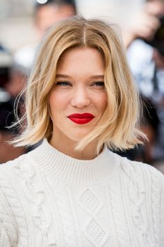 Hair and Beauty: Léa Seydoux - Photocall du film Juste la fin du mo. Wavy Hair, Blonde Hair, Ouai Hair, Thin Hair, Super Short Bobs, French Hair, Short Bob Haircuts, Haircut Short, Hair Today