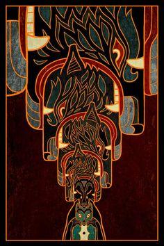 Art Nouveau Poster, Beautiful Dark Art, Environment Concept Art, Art Plastique, Cool Artwork, Art Blog, Creative Art, Fantasy Art, Illustration Art