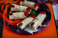 Who says you can't play with your food? Point a finger at your friends and family with these Witch Finger PB&J sandwiches.