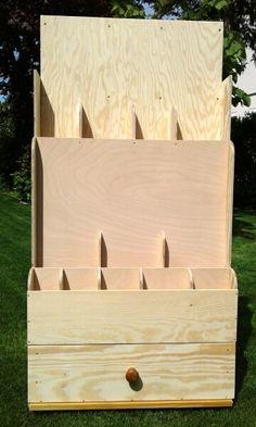 Mobiles Holzlager für Stangen, Leisten und Reste Bauanleitung...