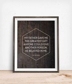 Fathers Day Printable Quote Freebie   Click through to download this inspiring Father's Day quote and give your dad a thoughtful gift in an instant!