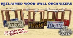 Fresh from GadgetSponge Garage are these creations using over 50-year old barn wood, license plates, and other small knick knacks. Description from gadgetsponge.com. I searched for this on bing.com/images