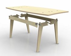 DESIGN 21 announces winner of Sustainable Materials Challenge Folding Furniture, Plywood Furniture, Furniture Plans, Diy Furniture, Furniture Design, Mesa Retro, Plywood Table, Plywood Projects, Cnc Wood