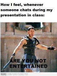 Class presentations in a nutshell