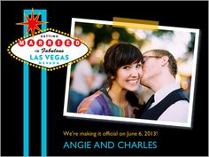Vegas Wedding Save The Date- Perfect :)