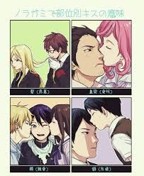 Noragami // Kazuma x Bishamon // Kofuku x Daikoku // Yato, Yukine and Hiyori // Ebisu