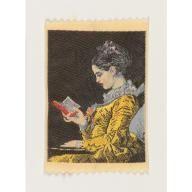 A Young Girl Reading (c. 1776) by Jean-Honoré Fragonard, Manufacturer: Warner-Artex, 1950–1969