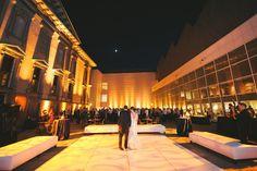 Crocker Art Museum New Courtyard Event Planning + Design : Kate Whelan Events (TM)   Photography : Sarah Maren Photographers Read More on SMP: http://www.stylemepretty.com/little-black-book-blog/2013/03/05/crocker-art-museum-wedding-from-kate-whelan-events/