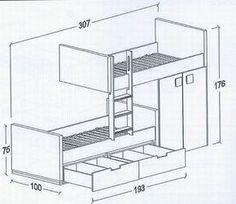 Bunk Bed Rooms, Kids Bunk Beds, Kids Bedroom Furniture, Bedroom Decor, Bunk Bed Designs, Kids Room Design, Boy Room, Interior Design Living Room, Girls Bedroom