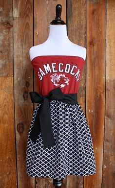 South Carolina Gamecocks Strapless Game Day Dress  by jillbenimble