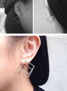 Cube Earrings (2 colours)