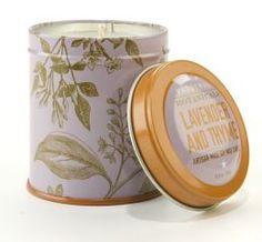 Lavender Thyme Botanical Tin Candle  Barns & Noble: $10