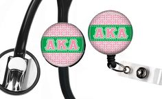Alpha Kappa Alpha Greek Letters Sorority Name Badge ID Holder