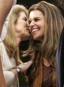 Cousins: Maria Shriver and Caroline Kennedy